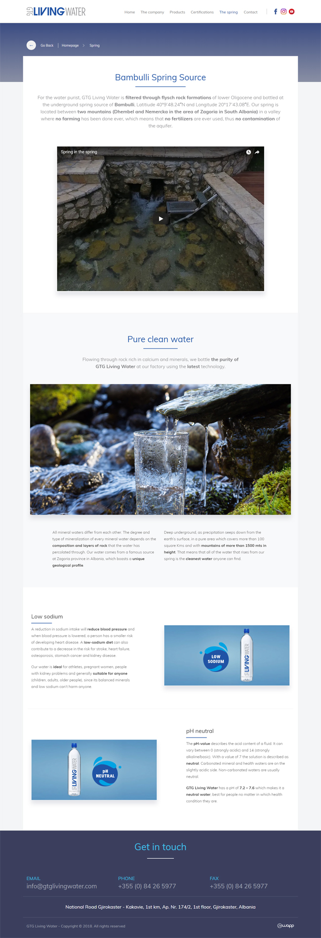 Responsive website for GTG Living Water