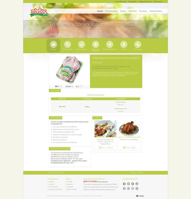 Website for Pindos Ioannina Agricultural Poultry Farming