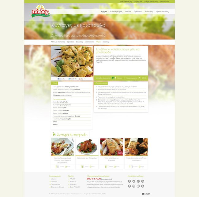 Website for Pindos Ioannina Agricultural Poultry Farming Cooperative