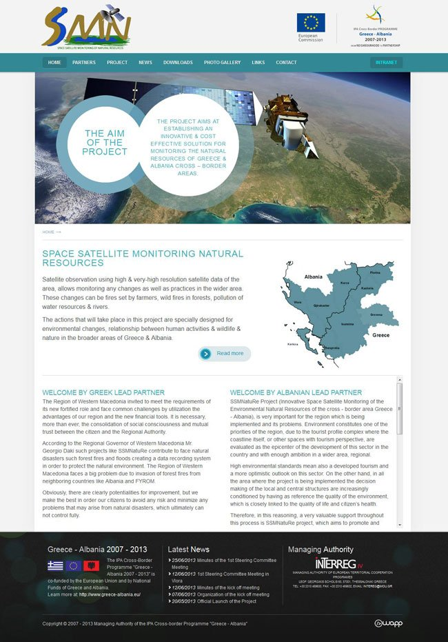 Website for Space Satellite Monitoring Of Natural Resources