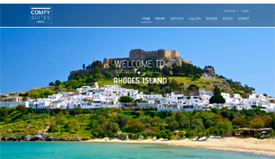 Responsive website for Lindos Comfy Suites in Rhodes