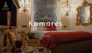 Responsive website for Kamares Boutique Hotel & Spa in Ioannina