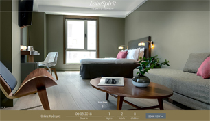 Responsive website for Lake Spirit Hotel in Ioannina
