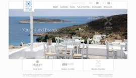 Website for Aria Hotels Group in Athens, Chania, Serifos & Kimolos
