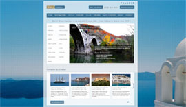 Website for Best of Greece Holidays