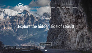 Responsive website for Epirus Adventures.