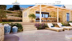 Responsive website for Epirus Realty in Parga