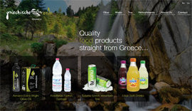 Website for GriechischeErde Quality Food Products company in Nuremberg