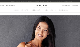 Responsive Eshop for Inspiral Jewelry in Lamia