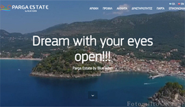 Responsive website for Parga Estate