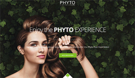 Web application for Phyto Hair Experience in Athens