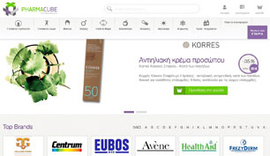 Eshop for Pharmacube, a digital pharmacy company in Cholargos, Athens