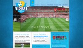 Website for Tigers Ioannina Football College in Ioannina, Epirus