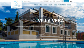 Responsive website for Villa Vera in Lefkada